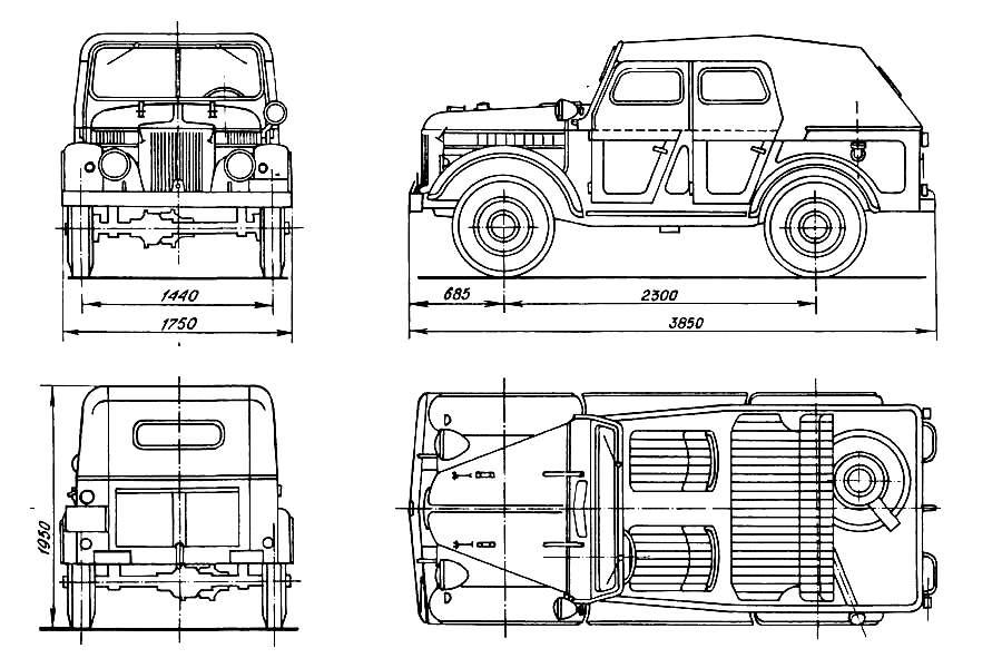 плакатов по ремонту ГАЗ-69